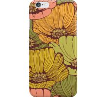 Vintage poppy flowers iPhone Case/Skin