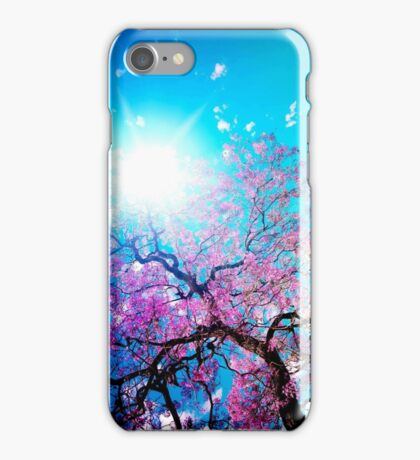 Pink Blossoms Tree iPhone Case/Skin