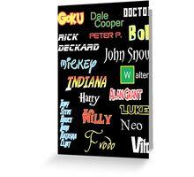 Main characters Greeting Card