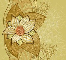 Vintage magnolia flower by Patternalized
