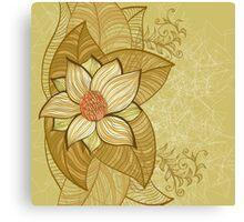 Vintage magnolia flower Canvas Print
