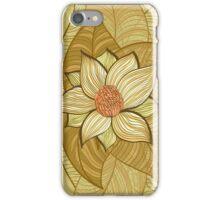 Vintage magnolia flower iPhone Case/Skin