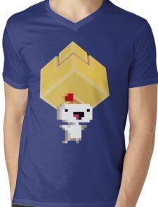 Cube Get! Mens V-Neck T-Shirt