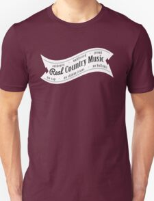 Real Country Music (white ink) Unisex T-Shirt