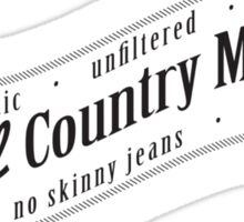 Real Country Music (white ink) Sticker
