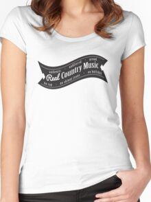 Real Country Music Women's Fitted Scoop T-Shirt