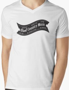 Real Country Music Mens V-Neck T-Shirt