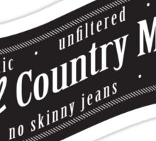 Real Country Music Sticker