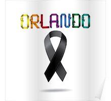 Orlando Rainbow ribbons Poster