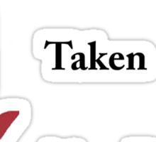 Single/taken/mentally dating Bucky Barnes design :) Sticker