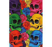 Rainbow Skull Photographic Print