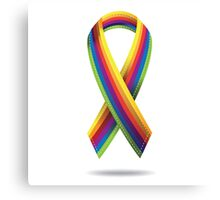 Rainbow ribbon Canvas Print