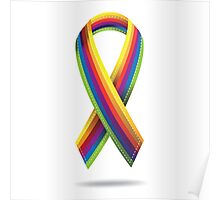Rainbow ribbon Poster
