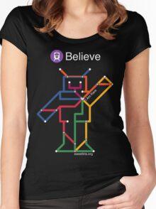 Sweet Iris Robot (Fight GM1 Gangliosidosis) (White) Women's Fitted Scoop T-Shirt
