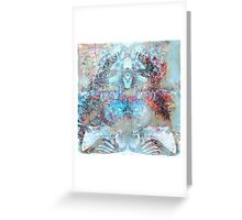 Iron Lung Abstract Metallic Copper Patina  Greeting Card