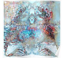 Iron Lung Abstract Metallic Copper Patina  Poster