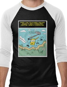 Fred the Mustard Packet Does a Self Directed Mental Health Exercise. Men's Baseball ¾ T-Shirt