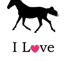 I Love Riding! Equestrian Horse iPhone & iPod Cases Sticker