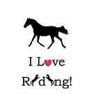 I Love Riding! Equestrian Horse iPhone & iPod Cases by Patricia Barmatz