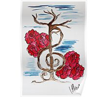 Music Note Tree Poster