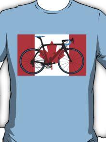 Bike Flag Canada (Big - Highlight) T-Shirt