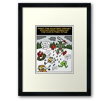 Fred the Mustard Packet Encounters Sparkles the Christmas Ninja. Framed Print