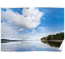 Clouds Reflected in Puget Sound Poster