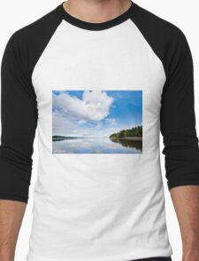 Clouds Reflected in Puget Sound Men's Baseball ¾ T-Shirt