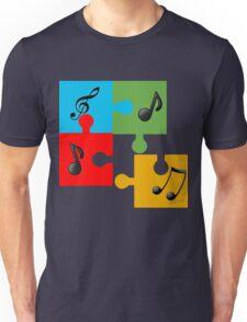 Puzzle music Unisex T-Shirt