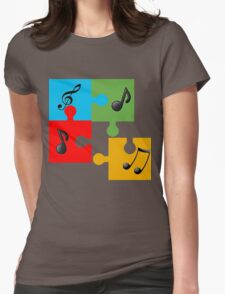 Puzzle music Womens Fitted T-Shirt