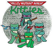 Hello Mutant Ninja Kitties by andabelart