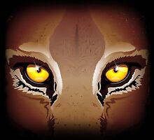Wild Puma Eyes by BluedarkArt
