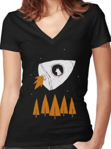 laika Women's Fitted V-Neck T-Shirt