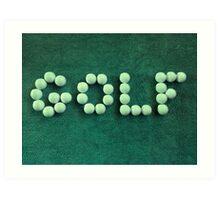 Golf Balls #2 Art Print