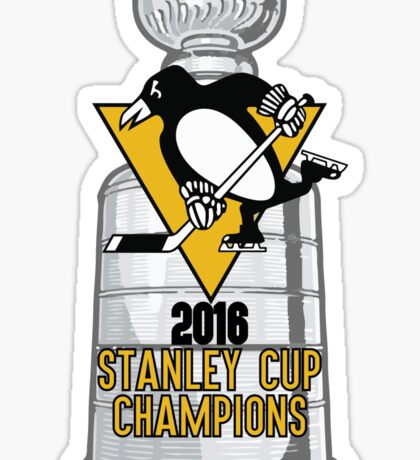 2016 Pittsburgh Penguins Stanley Cup Champions Sticker