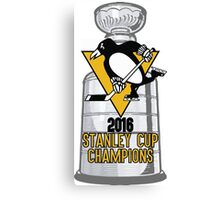 2016 Pittsburgh Penguins Stanley Cup Champions Canvas Print