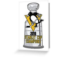 2016 Pittsburgh Penguins Stanley Cup Champions Greeting Card