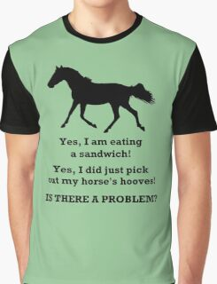 Horse People Humor T-Shirts and Hoodies Graphic T-Shirt