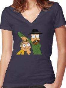 Walt and Jesse Women's Fitted V-Neck T-Shirt