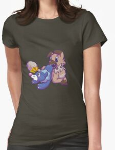 Popplio and Iwanko Womens Fitted T-Shirt