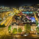 Stuttgart, Germany quarter at night by wulfman65