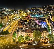 Stuttgart, Germany quarter at night by wulfman65