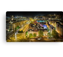 Stuttgart, Germany quarter at night Canvas Print