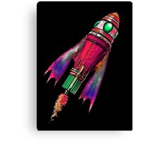 Retro Space Ship Two Canvas Print