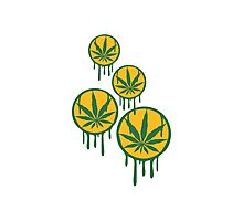 Cool Weed Stempel Muster Photographic Print