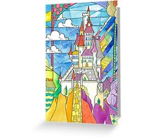 Beauty and the Beast Castle Greeting Card