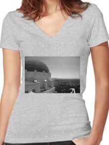 City of Angels Women's Fitted V-Neck T-Shirt