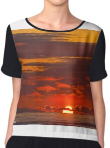 Sunset Over the Pacific Ocean Chiffon Top