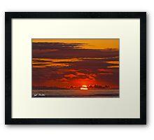 Sunset Over the Pacific Ocean Framed Print