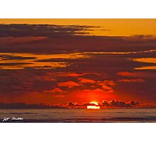Sunset Over the Pacific Ocean Photographic Print
